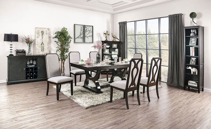 CM3734T - Gillam Wood Top Dining Table Set