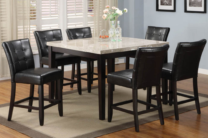 CM3866PT-48 - Marion Genuine Marble Top Counter Height Dining Set