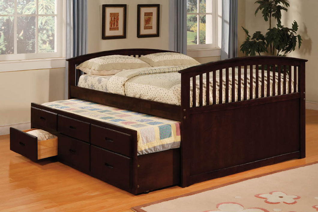 Bella Twin Trundle Bed with 3 Drawers CM7035CH