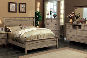 CM7351L Loxley II Weathered Oak Finish Queen Bed