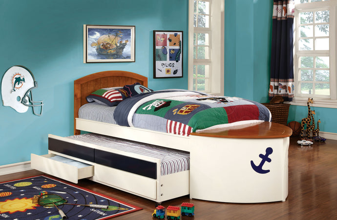 Voyager Twin Trundle Bed with 2 Drawers CM7768
