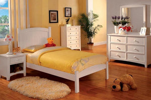 CM7902WH Caren White Finish Twin Bed