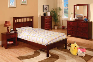 CM7904CH Carus Cherry Finish Twin Bed
