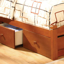 CM7904OAK - Carus Oak Twin Bed - Available in Full Bed