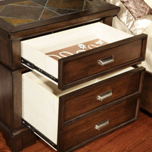 CM7985 Alcazar Transitional Style Brown Cherry Queen Bed