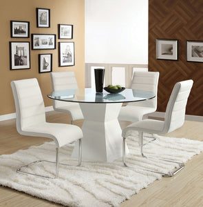 Dining Table CM8371WH-T - Mauna White Dining Table with 4 White Chairs