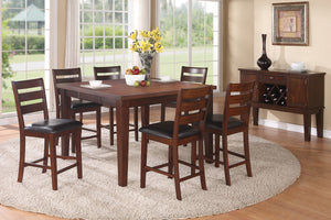 F2208 - Counter Height Dining Table with 6 Chairs