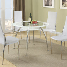 F2210 - Axis Dining Table with 4 White Chairs