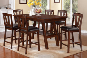 F2273 - Counter Height Table with 6 Height Chairs