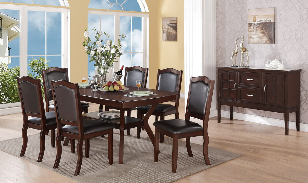 F2290 - Dining Table with 6 Chairs