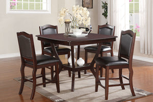 F2291 - Counter Height Dining Table with 4 Chairs
