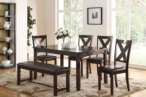 F2297 - Dining Table with 4 Chairs & 1 Bench
