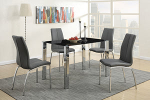 F2314 - Beno Dining Table with 4 Grey Chairs