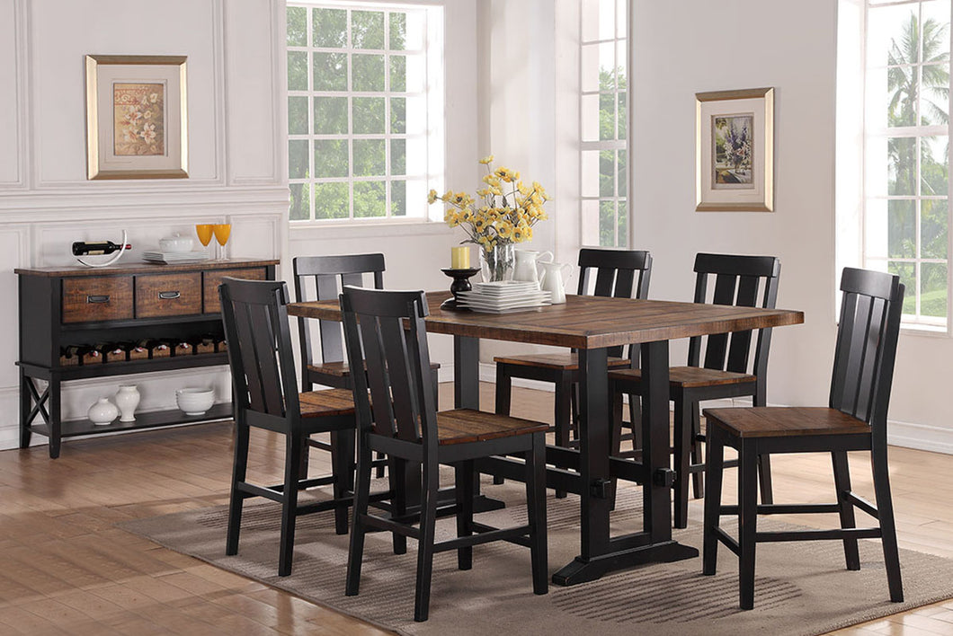F2330 - Counter Height Dining Table with 6 Chairs