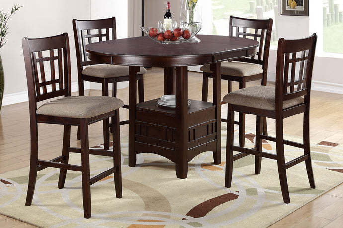 F2345 + F1205 - Counter Height Dining Table Set