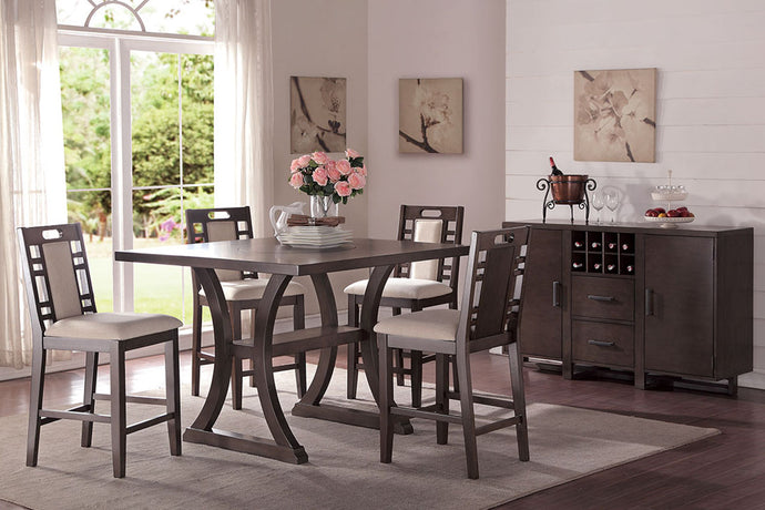 F2380 - Counter Height Dining Table with 4 Chairs
