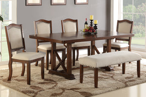F2398 - F1569 - Dining Table with 4 Chairs & 1 Bench