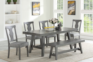 F2480 - F1771 - Dining Table with 4 Chairs & 1 Bench