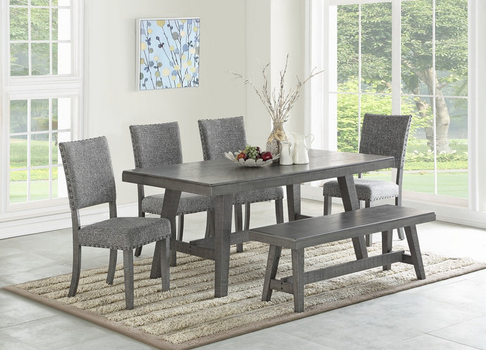 F2480 - F1773 - Dining Table with 4 Chairs & 1 Bench