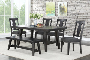 F2481 - F1772 - Dining Table with 4 Chairs & 1 Bench