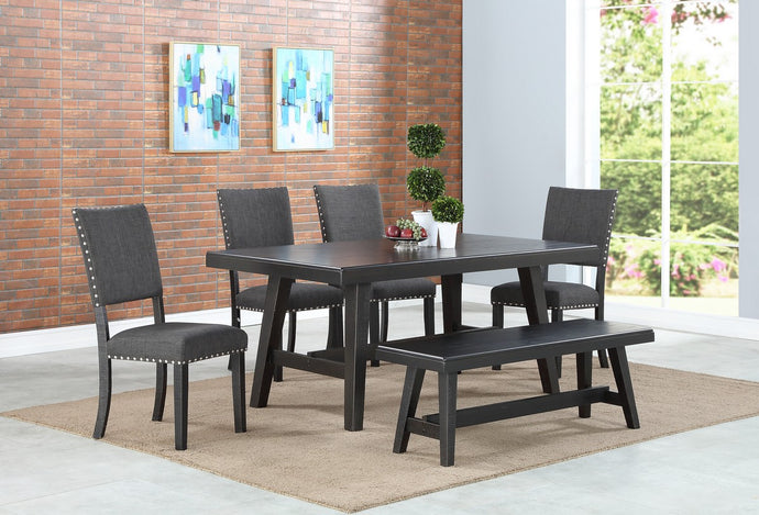 F2481 - F1774 - Dining Table with 4 Chairs & 1 Bench