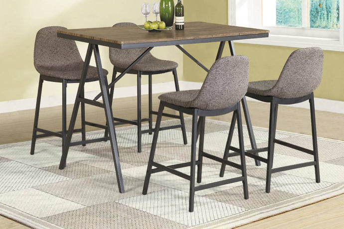 F2486 - Counter Height Dining Table with 4 Chairs