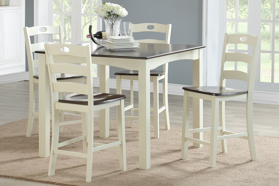 F2544 - Counter Height Dining Table with 4 Chairs