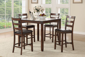 F2546 - Counter Height Dining Table with 4 Chairs