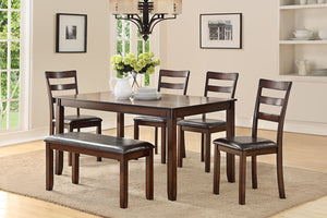 F2547 - Dining Table with 4 Chairs & 1 Bench