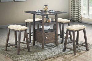 F2551 - Counter Height Dining Table with 4 Stools