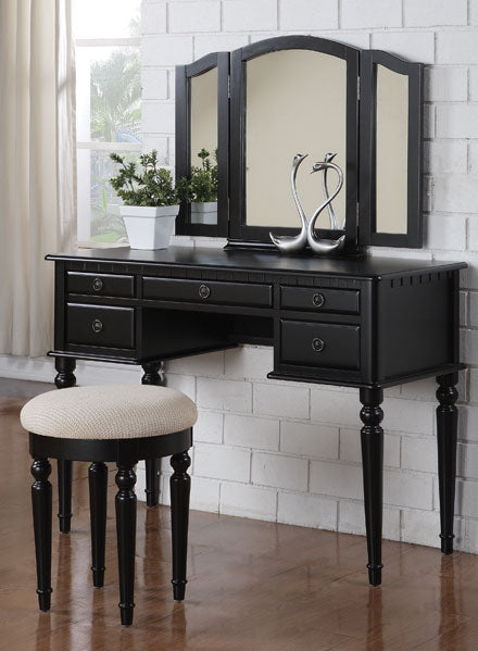 F4072  - Edna 5 Drawers Makeup Vanity Table with Stool