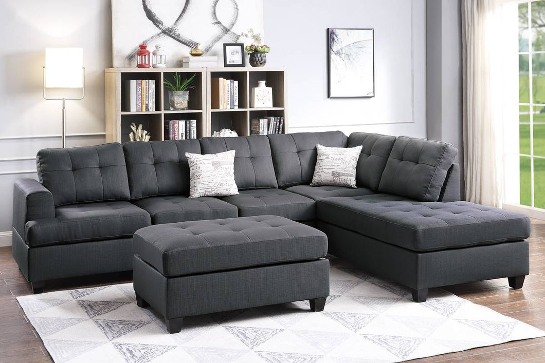 F6404 - Dave Reversible Sectional with Ottoman