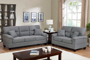 F6405 - Travis 2-PCs Gray Sofa and Loveseat