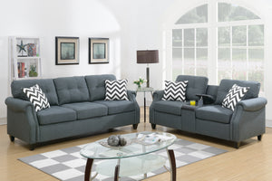F6411 - Divano Blue Gray Sofa and Loveseat
