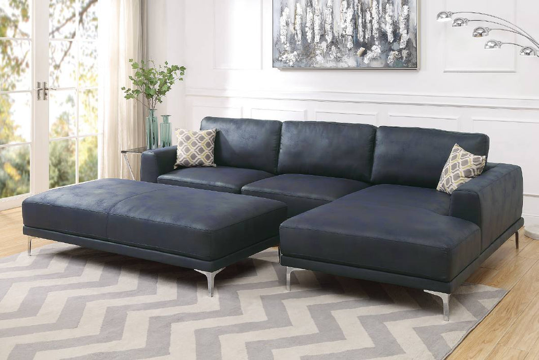 F6430 - Leeds Blue Sectional