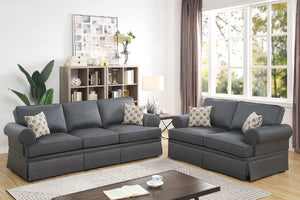 F6441 - Teora 2-PCs Charcoal Sofa and Loveseat
