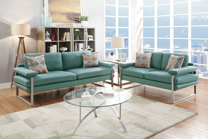 F6558 - Olivia 2-PCs Laguna Sofa and Loveseat