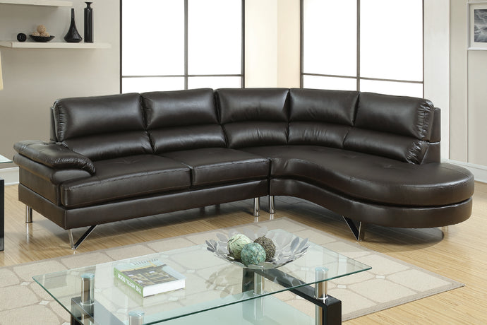 F6569 - Dominic Espresso Sectional Sofa