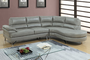 F6570 - Dominic Grey Sectional Sofa