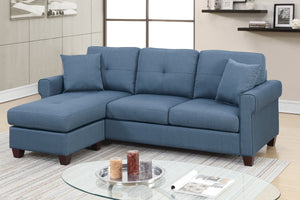 F6573 - Tommy Blue Reversible Sectional