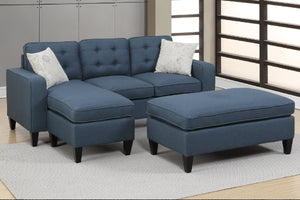F6577 - Nora Navy All-In-One Reversible Sectional