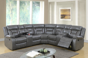 F6650 - 3PCs Home Theater Recliner Sectional