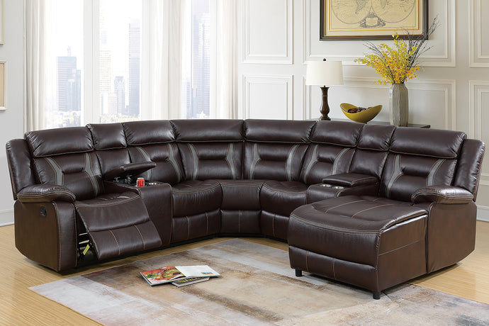 F6703 - 5PCs Home Theater Recliner Sectional