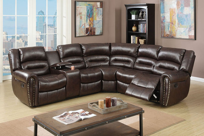F6744 - 3PCs Home Theater Recliner Sectional