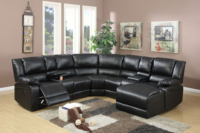F6745 - 5PCs Home Theater Recliner Sectional