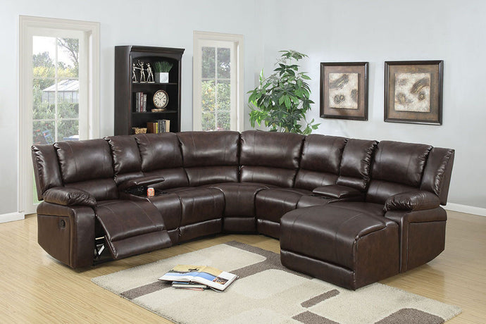 F6746 - 5PCs Home Theater Recliner Sectional