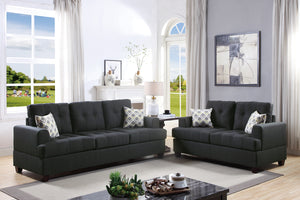 F7597 - Ashley 2-PCs Black Sofa and Loveseat