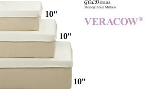 "F8320 Veracow Gold Series 10"" Queen Memory Foam Mattress"
