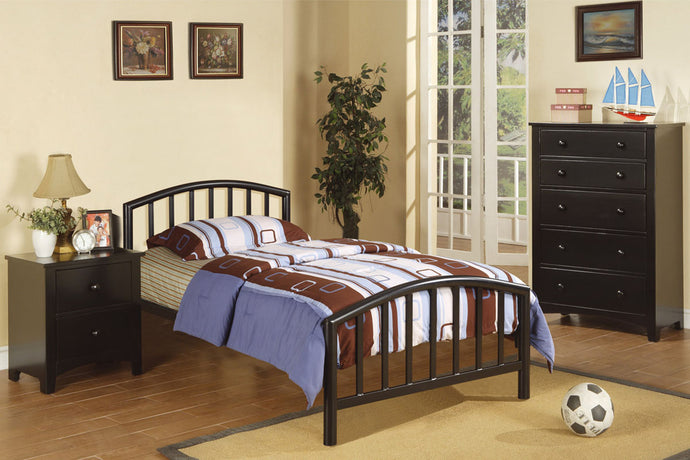 F9018T Joseph Black Metal Twin Bed