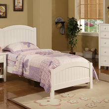 F9049 Sarah White Finish Twin Bed